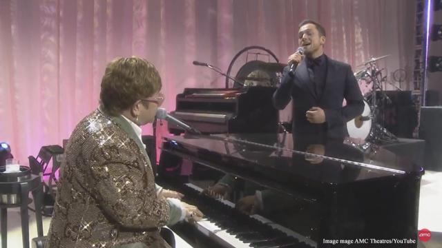 Taron Egerton and Elton John sing a duet of