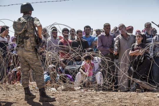 Imagen de los refugiados de la guerra en Siria