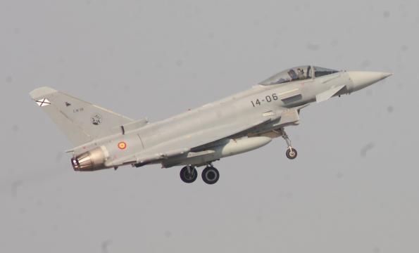 Eurofighter al despegue en una interceptación