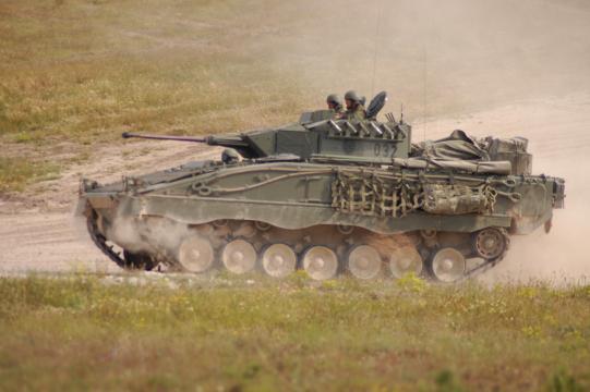 Pizarro en operaciones. Una unidad de ellos se encuentra desplegada en Letonia