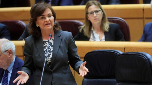 La Vicepresidenta del Gobierno, Carmen Calvo (RTVE)