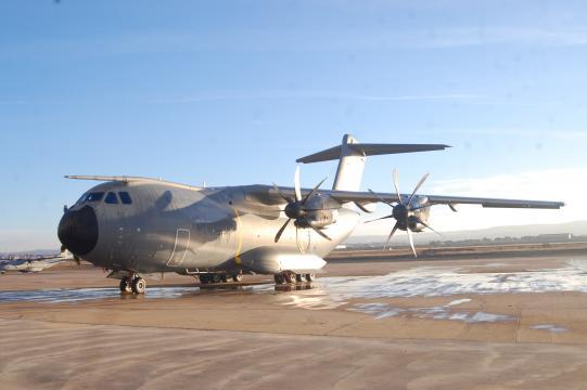 El novisimo A-400 de transporte. Varios ejemplares se dedicarán a exportación