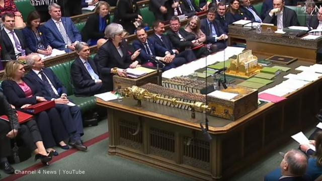 Theresa may faces opposition to Brexit plan - Image credit - Channel 4 News | YouTube