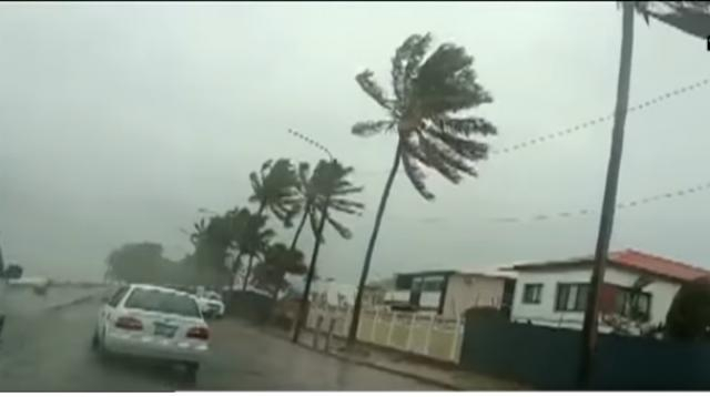 Cyclone Idai tracks over Mozambique into Zimbabwe, claims 24 lives. [Image source/SABC Digital News YouTube video]
