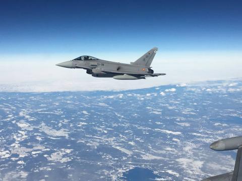 El caza Eurofighter será el sistema de armas más empleado durante la operación