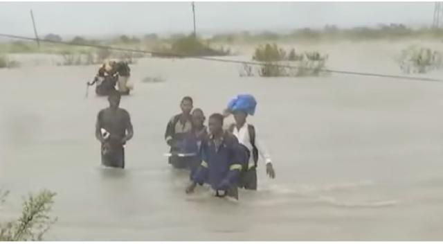Rescue efforts in Mozambique continues. [Image source/eNCA YouTube video]