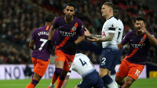 Tottenham 0 Manchester City 1: Mahrez settles ragged Wembley ... - stadiumastro.com