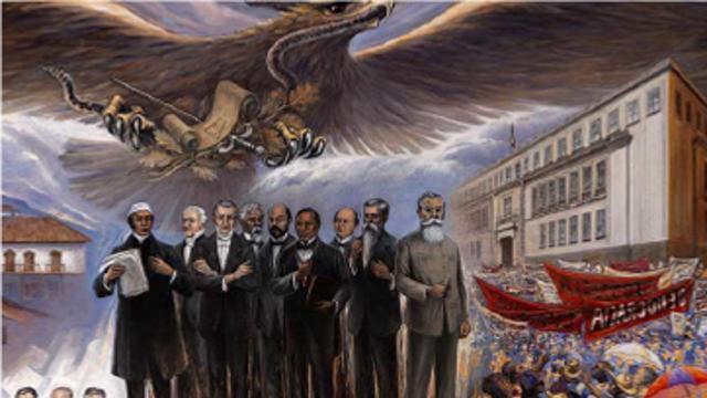 Los personajes que encarnan el ideal de justicia en México, presentes en los murales del edificio Principal de la Suprema Corte.