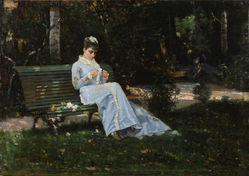 Cristiano Banti, Alaide Banti sulla panchina 1870-75 (La Venaria Reale)