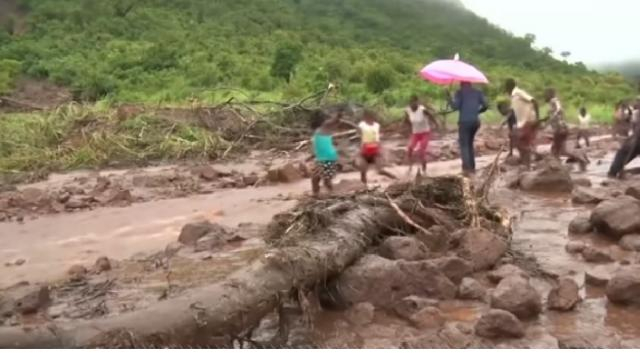 Death toll rises after cyclone drowns Mozambique. [Image source/ABC News YouTube video]