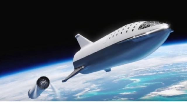 Elon Musk's Space Plan 2019-2023 (Moon & Mars) Starship. [Image source/Elon Musk New & Video YouTube]