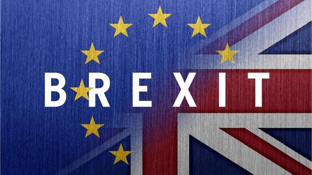Logo coniato per la Brexit. Oggi il Regno Unito ha ottenuto una proroga della data di uscita.