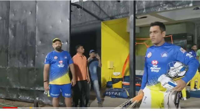 MS Dhoni makes entry in Chepauk stadium. [Image source/MS Entertainment YouTube video]