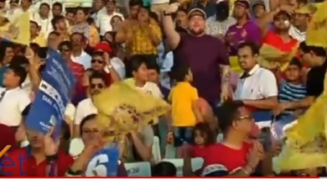 IPL 2019 – fans at KKR vs SRH match. [Image source/ST News YouTube video]