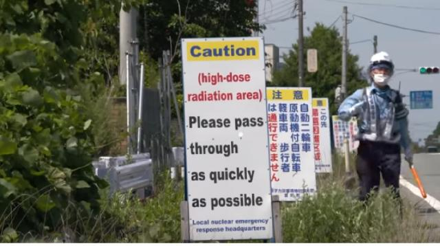 Fukushima's ghost towns. [Image source/60 Minutes YouTube video]