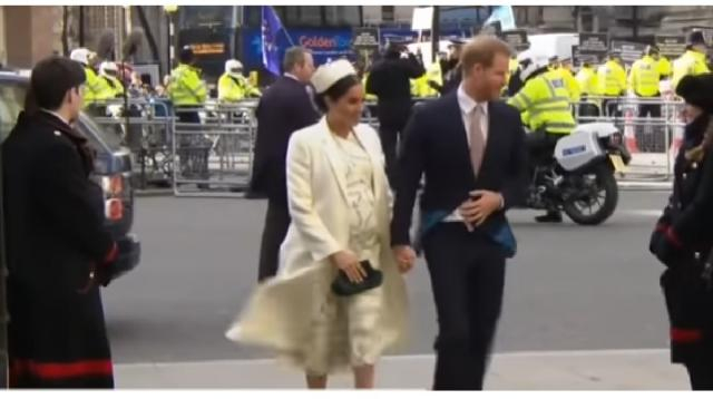 Meghan Markle's royal maternity style. [Image source/Good Morning America YouTube video]