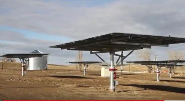 Idaho Farmers uses solar energy to keep irrigation costs down. [Image source/IDFarmBureau YouTube video]