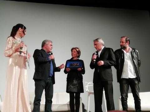 ReggioFilmFest - Premiazione con Franco Neri_Mimo Calopresti