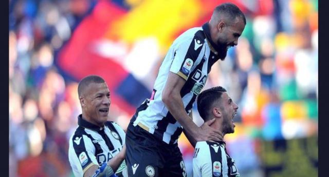 Serie A, Udinese-Genoa 2-0: gol di Okaka e capolavoro di Mandragora (foto Twitter).