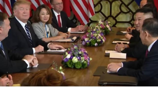 The Hanoi summit between Kim Jong Un and Donald Trump in less than 3 minutes. [Image source/Washington Post YouTube video]