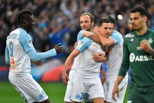 Ligue 1 : L'Olympique de Marseille domine Saint-Etienne dans le ... - yahoo.com