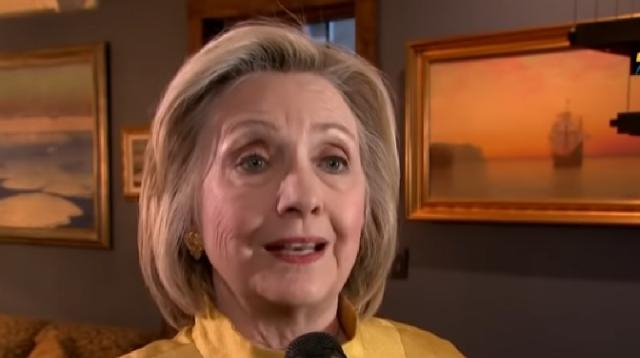 Clinton Says no 2020 Presidential Bid in rare interview. [Image source/i24News YouTube video]