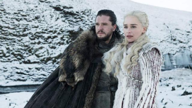Jon Snow e Daenerys Targaryen nella Season 8