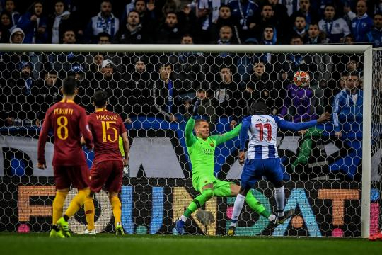 Marega jugó un gran partido y marcó el 2-1 en el marcador para el Porto.www.marca.com