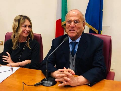 La giornalista Annalisa Manduca (Radio Uno Rai) con l'avv. Giuseppe Castronovo