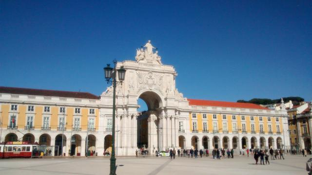 Arco de la Rua Augusta, en la Praça do Comércio