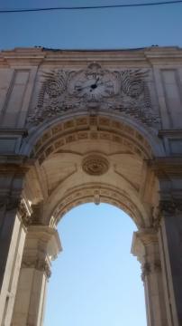 El Arco de la Rua Augusta en la Praça do Comércio