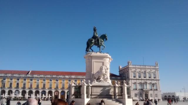 Estatua de D. José I, en la Praça do Comércio