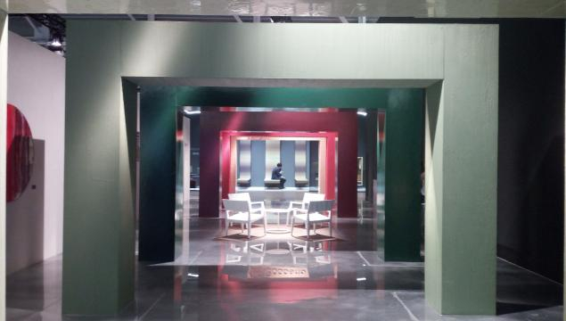 L' installazione di Gobbetto presso Superstudiopiù