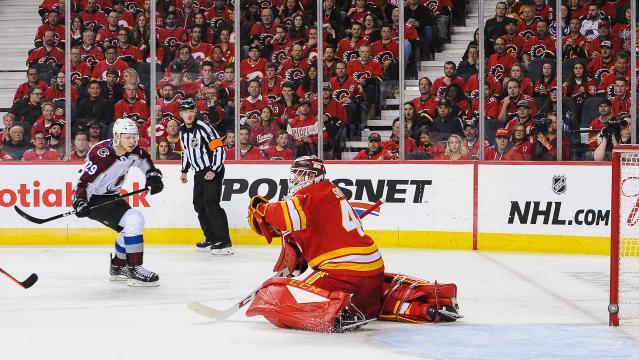 McKinnon logró una victoria clave para Colorado en su serie vs los Flames. www.nbcsports.com