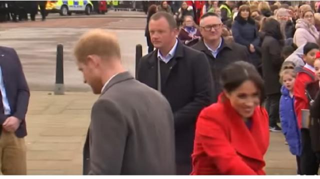 Meghan Markle and Prince Harry get baby advice from Birkenhead residents on royal visit. [Image source/Global News YouTube video]