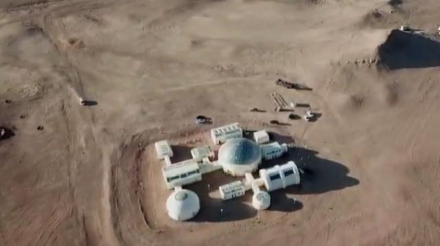 China opens Mars education base in Gobi desert. [Image source/AFP news agency YouTube video]