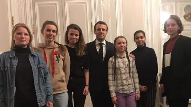 Insieme al presidente francese Macron