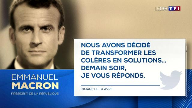 Grand débat : Emmanuel Macron parlera jeudi - LCI -