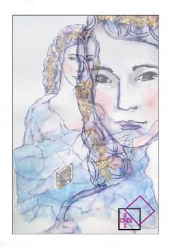 Illustrazione della Dea Demetra archetipo della madre