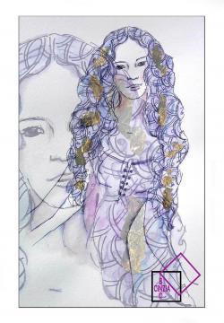 Illustrazione della Dea Persefone archetipo della figlia