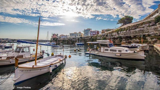 Harbour in Menorca (Minorca), Balearic Islands, Spain [Image Pixabay]
