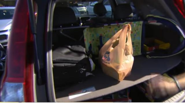 California becomes first state to prohibit plastic bags. [Image source/CBS This Morning YouTube video]