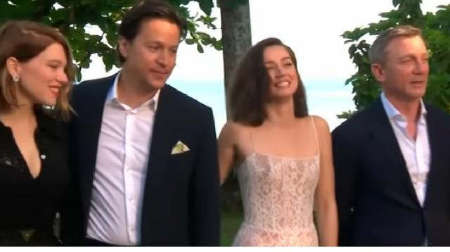 Exclusive interview with 007 Daniel Craig in Jamaica. [Image source/Nine News Australia YouTube video]