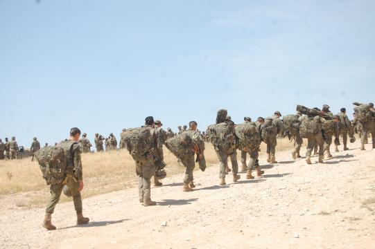 En el campo militar el líder debe predicar con su ejemplo a sus hombres