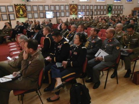 Numerosos oficiales de ejércitos aliados presenciarron las jornadas