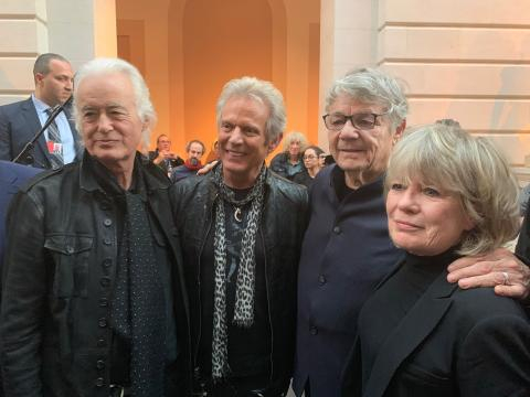Play It Loud: Instruments of Rock & Roll Jimmy Page, Don Felder, Steve Miller, Tina Weymouth/photo via Tracey Fitzpatrick