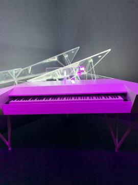 Play It Loud: Instruments of Rock & Roll Lady Gaga's piano/photo via Tracey Fitzpatrick