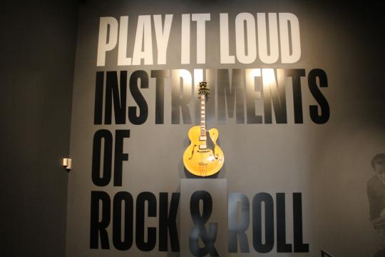 Play It Loud: Instruments of Rock & Roll Met Exhibit/photo via Tracey Fitzpatrick