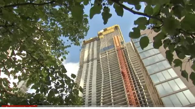 View of a skyscraper in Chicago. [Image source/ABC 7 Chicago YouTube video]