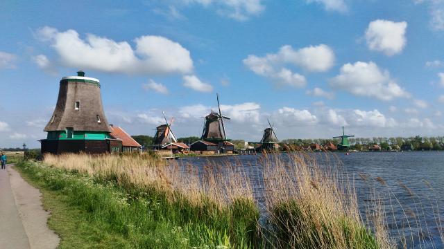 I mulini a vento di Zaanse Schans, pittoresco villaggio olandese.